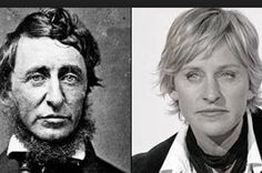 Ellen looks just like Henry David Thoreau, renowned American author.