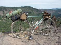 tourist 2 by J.Muir of frances cycles - With a ritchey style breakaway frame and matching painted pannier rack.