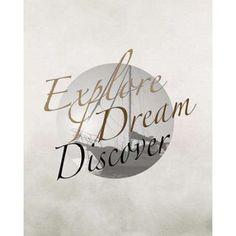 Explore Dream Discover Boat Canvas Art - Tara Moss (24 x 30)
