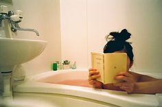 bath and a good book = true happiness. i do this as much as possible every time…