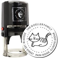 MaxStamp Self-Inking Cartoon Cat Address Stamper  | eBay