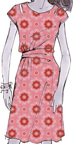Dein 'Prickelnde Vorfreude' Designerstück. SchnittJerseykleid Martha von Schnittmuster Berlin. Stoff: Prickelnde Vorfreude (17956) auf Viskose Jersey von www.stoff.love Designer, Apron, Fashion, Fabrics, Dressing Up, Woman, Curve Dresses, Pinafore Dress, Moda