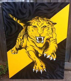 Good luck today tigers!!! Canvas from 2014   ✒️Carn the tigers!!!! 🎨100% Spray Paint 🙏 Private Collection 👌  #afl2019 #aflgrandfinal2019 #fineart #contemporaryart #canvaspainting #setitoff #interior_design #hangingartistryboutique #paintingwithatwist #streetart #streetartist #graffitishot #streetartphotography #perspective #sprayart #streetarteverywhere #streetartdaily #graffitiartdaily #graffitiartist