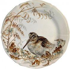 Gien France, Animal Painter, Autumn Table, Bird Artwork, China Painting, China Patterns, Porcelain Vase, Salad Plates, China Dinnerware