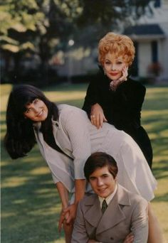 Lucille Ball with her kids Lucie and Desi Jr.