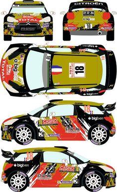 Citroen WRC Rally Montecarlo 2015 - S. Model Cars Kits, Kit Cars, Sport Cars, Race Cars, Citroen Ds3, Car Paint Jobs, Gm Trucks, Car Painting, Car Wrap