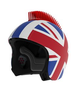 Customize your helmet with cool add-ons like a pair of horns, a crown, a punk vinyl hair... you choose at EGG #coolhunting #helmets