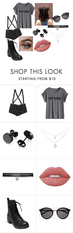 """Casual #19"" by astridnightmare on Polyvore featuring moda, Abbey Dawn, Betsey Johnson, Lime Crime, Madden Girl y Yves Saint Laurent"
