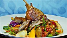 Andeconfit med ovnsbakte grønnsaker Tandoori Chicken, Turkey, Meat, Ethnic Recipes, Food, Spinach, Turkey Country, Essen, Meals