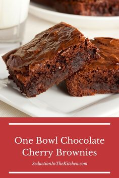 One Bowl Chocolate Cherry Brownies is an easy brownie recipe with cocoa powder. If you want a moist brownie recipe, then you have to try these cherry brownies. Keto Brownies, Cheesecake Swirl Brownies, Cherry Brownies, Moist Brownies, Sugar Free Brownies, Easy Moist Brownie Recipe, Brownie Recipe With Cocoa, Brownie Recipes, Cake Recipes