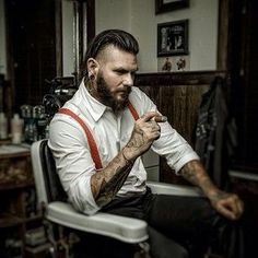 Men Hair Styles -                                                              The ruggedly handsome Travis Cadeau. | 27 Men's Undercuts That Will Awaken You Sexually www.whatstrending...