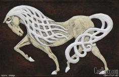 Beautiful flowing celtic Steed