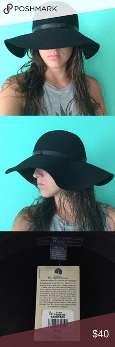 BRAND NEW WOOL BLACK FALL HAT Light weight and great for a fall day, never worn, only to model the hat for all you ladies Bass Accessories Hats