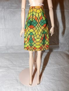 Fashion Doll Coordinates  Colorful geometric by KelleysKreationsLV