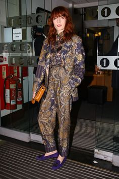 Only Florence can pull off this beautiful print all over.