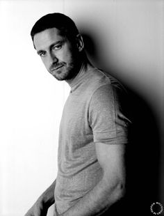 Gerard Butler  B & W   #handsome #men #beard