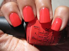 OPI On Collins Ave. Beautiful orange-red!