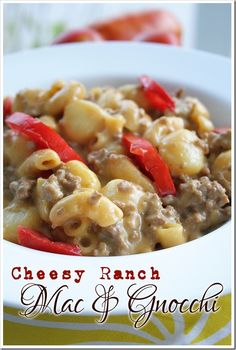 Quick and easy weeknight dinner - cheesy, starchy goodness!