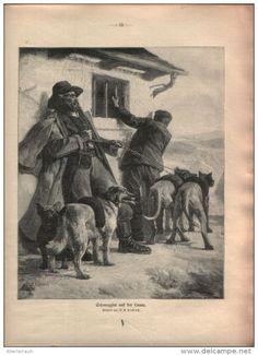 """Schmuggler auf der Lauer  - Druck, entnommen  aus """"die Gartenlaube"""", 1910"""