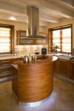 Modern Medium Wood Kitchen Cabinets #05 (Kitchen-Design-Ideas.org)