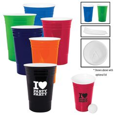 26a2e306c5b Reusable 16 oz. (473 ml) insulated plastic party cup like the ones you