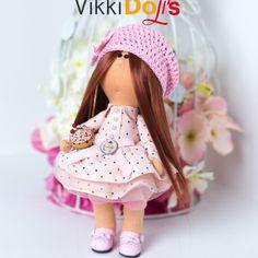 Текстильная кукла Интерьерная кукла Кукла ручной работы Декор Игрушка в подарок Мягкая игрушка Подарок Кукла из ткани Авторская кукла Тильда by VikkiDoLis on Etsy