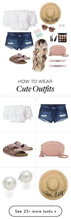 """Outfit #2"" by alliecampbell-1 on Polyvore featuring 3x1, LoveShackFancy, Birkenstock, Witchery, Eugenia Kim, Accessorize, AK Anne Klein, MAC Cosmetics, Smashbox and MICHAEL Michael Kors"