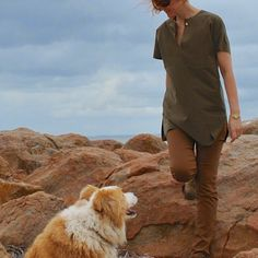 Handmade by Carolyn: olive faux suede top