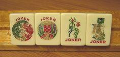 Beautiful Joker Mah Jongg tiles