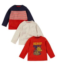Mothercare Heavy Duty T-Shirts - 3 Pack - tops & t-shirts - Mothercare