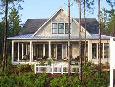 Shingles On House Roof And Tin On Porch Roof · Southern Living ...