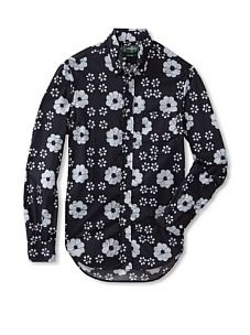 Gitman Vintage Men's Batik Button-Front Shirt (Dark Blue)