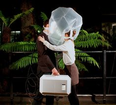 The Extreme Environment Love Hotel by UK-based Al Hasegawa is a hotel room that simulates impossible spaces and looks at how we might adapt to wildly different environments. The hotel's first simulation is the Carboniferous geologic period, which prototypes couples having to carry around a suitcase containing higher levels of oxygen. This project is a great example of prototyping an experience.