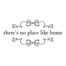 'There's no place like home' wall quotes decal // for garage-into-house door