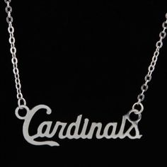 St. Louis Cardinals Silver Script Necklace. I want one!