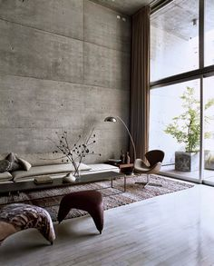 this stylish loft, designed by world renowned chilean architect mathias klotz, combines sophisticated elegance with comfort and design