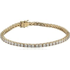 Myia Passiello Essentials Gold-Plated Cubic Zirconia Tennis Bracelet Guaranteed to draw compliments from your friends the Myia Passiello Essentials tennis bracelet will make everyones head turn. Made of yellow gold plated over .925 sterling silver and dazzling round brilliant Swarovski cubic zirconia stones this tennis bracelet perfectly compliments any outfit from your chic little black dress to that gorgeous new power suit. The Essentials bracelet measures 7.25 inches in length with…