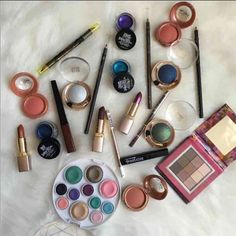 Makeup bundle Will not seperate  All new never used  Includes  3 Milani lipsticks  Milani lip liners  Milani eyeliners  3 blushes  Black liquid eyeliner  Milani eyeshadows  Maybeline color tattoo eyeshadow cream  Nyx   And so much more  I will add free items with purchase  All sales are final   22 pieces Makeup