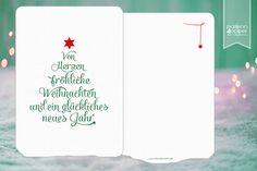"""Weihnachtskarte """"TypoXMas"""", Karte in DIN A6, 105x148mm, 285g-Strukturpapier Leinen, beschriftbar."""