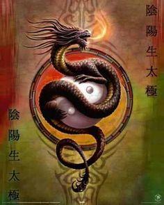 Yin Yang & The Dragon~ the Dragon represents mans soul~