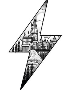 Harry Potter lightening bolt design ready for the new year. Please email if interested. A deposit will secure the drawing.… Harry Potter lightening bolt design ready for the new year. Please email if interested. A deposit will secure the drawing. Harry Potter Tattoos, Arte Do Harry Potter, Harry Potter Sketch, Harry Potter Drawings Easy, Harry Potter Wall Art, Harry Potter Tumblr, Art Drawings Sketches, Tattoo Sketches, Easy Drawings