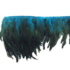 Sowder Rooster Hackle Feather Fringe Trim in Width Pack of 5 Yards(Turquoise) Peacock Halloween Costume, Halloween Costume Contest, Rooster Feathers, Arts And Crafts Supplies, Fringe Trim, Pretty Little, To My Daughter, Cool Designs, Turquoise