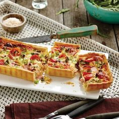 Collect this Ham and Cherry Tomato Tart recipe by DON Smallgoods. MYFOODBOOK.COM.AU | MAKE FREE COOKBOOKS