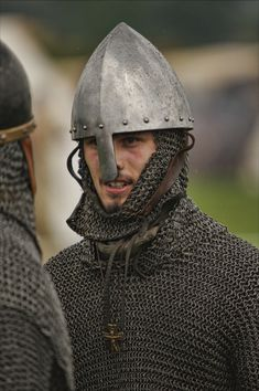Norman knight - conical helmet and mail hauberk