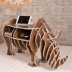 """Aliexpress.com : Buy J&E High end series """"L"""" size wood rhino coffee table from Reliable table pad suppliers on J&E'S FACTORY  