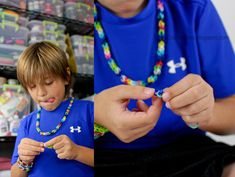 Latest kid craze! Learn how to make a RUBBER BAND bracelet or necklace WITHOUT the loom! Awesome kid craft!