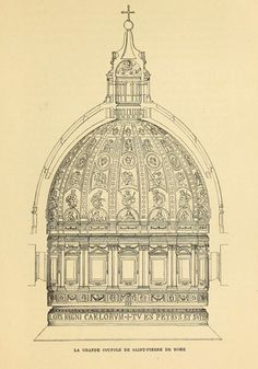 Section of the dome of St. Peter's Vatican City