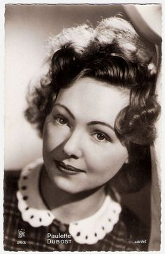 """""""French star Paulette Dubost - appeared in more than 150 films… Old Hollywood Stars, Golden Age Of Hollywood, Vintage Hollywood, Hollywood Glamour, Classic Hollywood, Classic Actresses, Actors & Actresses, Divas, Sound Film"""