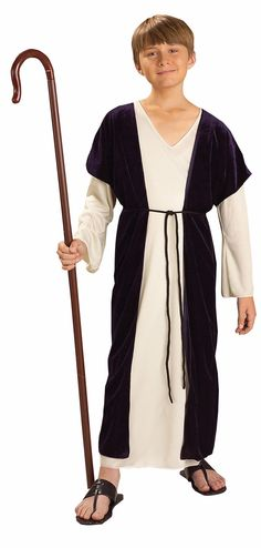 Shepherds Staff Stick Prop Brown Christmas Nativity Adjustable Size Fancy Dress