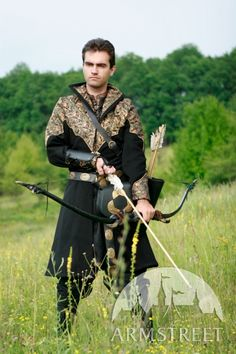 """""""Elven prince"""" exclusive fantasy medieval style overcoat garb"""